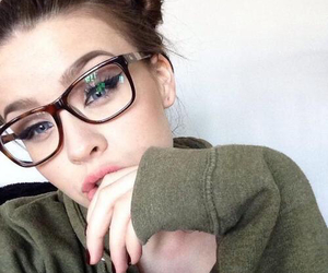 girl, icon, and glasses image