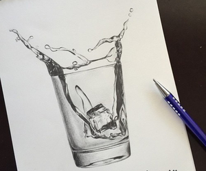 art, cup, and drops image