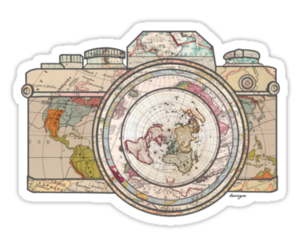 camera, world, and map image