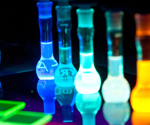 chemistry, colors, and fluorescent image