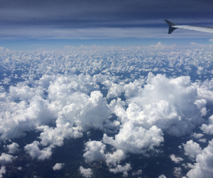 adventure, airplane, and clouds image