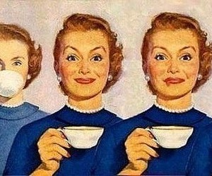 cup of tea, Psycho, and woman image