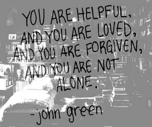john green, quote, and alone image