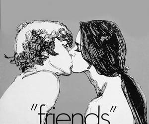 friends, kiss, and boy image