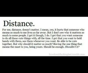 distance, Relationship, and why image