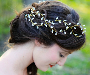 curls, fairytale, and hair image