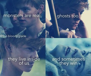 newt, maze runner, and thomas brodie sangster image