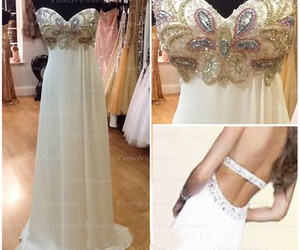 long prom dress, modest prom dress, and backless prom dress image