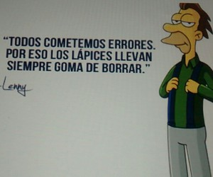 frases, lenny, and los simpson image