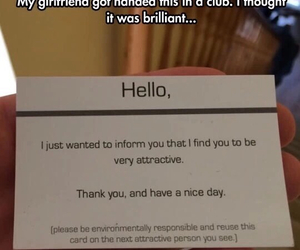 attractive, card, and funny image