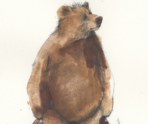 bear, draw, and illustration image