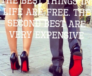 coco chanel, couple, and louboutin image