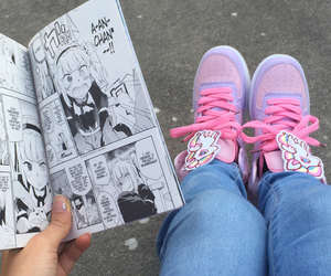 anime, book, and fashion image