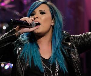 demi lovato, bluevato, and blue hair image