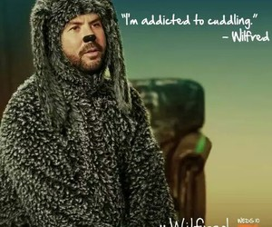 cuddling, dog, and wilfred image