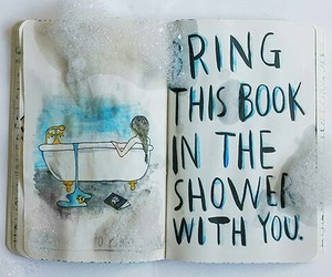 shower, wreck this journal, and art image