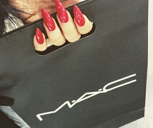 nails, mac, and red image