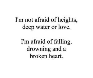 broken heart, words, and love image
