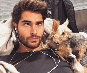 nick bateman, dog, and handsome image