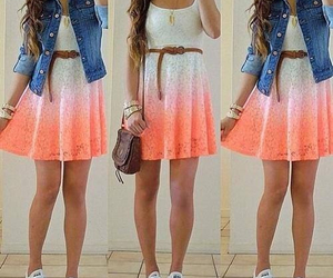 dress, outfit, and converse image