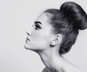 hair, bun, and beauty image
