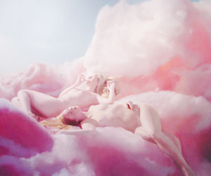 clouds, dreamy, and painting image