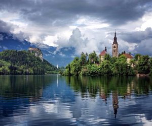 beauty, lake, and bled image