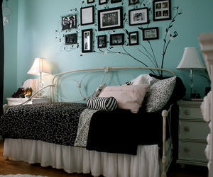 black, room, and blue image