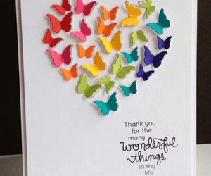 butterflies, butterfly, and card image