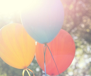 balloons, red, and blue image