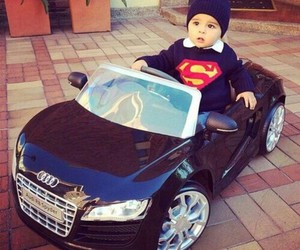 baby, cute, and car image