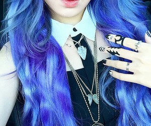 hair, blue, and tumblr image