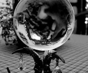 witch, magic, and crystal ball image