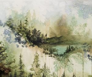 art, bon iver, and illustration image
