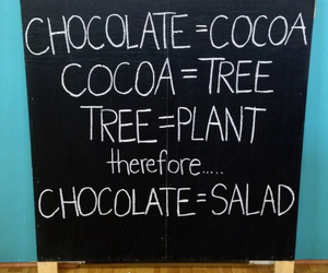 and, chocolat, and salad image