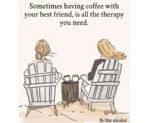 coffee, friend, and life image