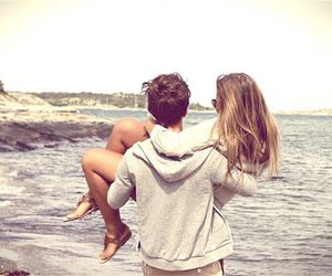 beach, boyfriend, and carry image
