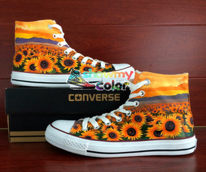 converse all star, custom shoes, and hand painted shoes image