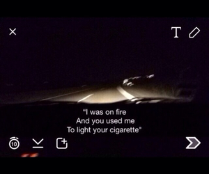 background, cigarette, and fire image