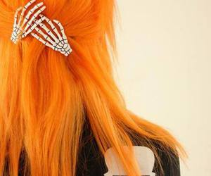hair, orange, and orange hair image