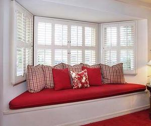 bay window, bay window seat cushion, and bay window bench image