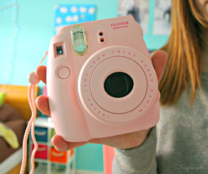 tumblr, camera, and pink image