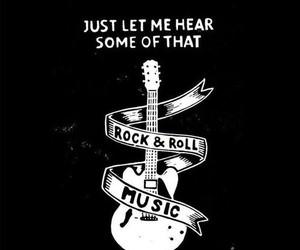 music, guitar, and black image