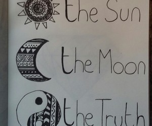 moon, sun, and teen wolf image