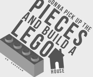 house, lego, and ed sheeran image