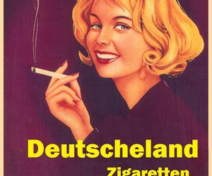 cigarettes, smoking, and vintage ads image