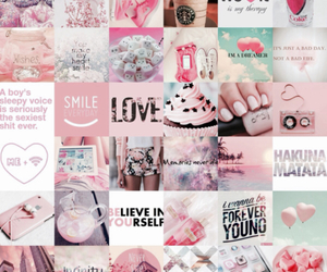 love, pink, and smile image