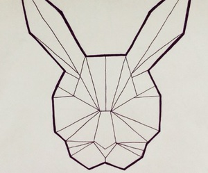april, art, and bunny image