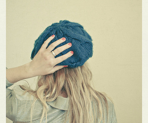 girl, hat, and nails image