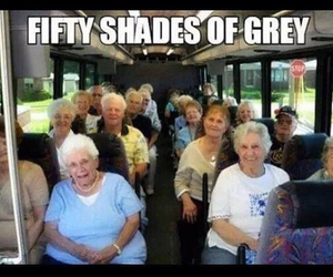 fifty shades of grey, funny, and grey image